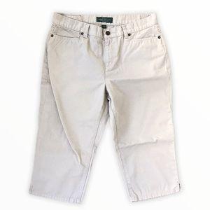 RALPH LAUREN | Knee Length Bermuda Cotton Shorts